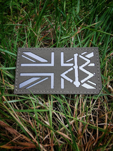 BLACK OMƎN UNION JACK PATCH / RANGER GREEN / GREY - BLACK-OMƎN
