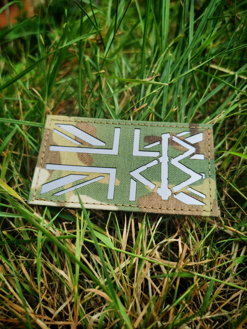 BLACK OMƎN UNION JACK PATCH / MULTICAM / GREY - BLACK-OMƎN