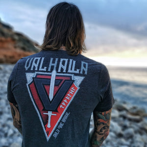 VALHALLA / ONLY THE BRAVE Unisex T-Shirt - BLACK-OMƎN