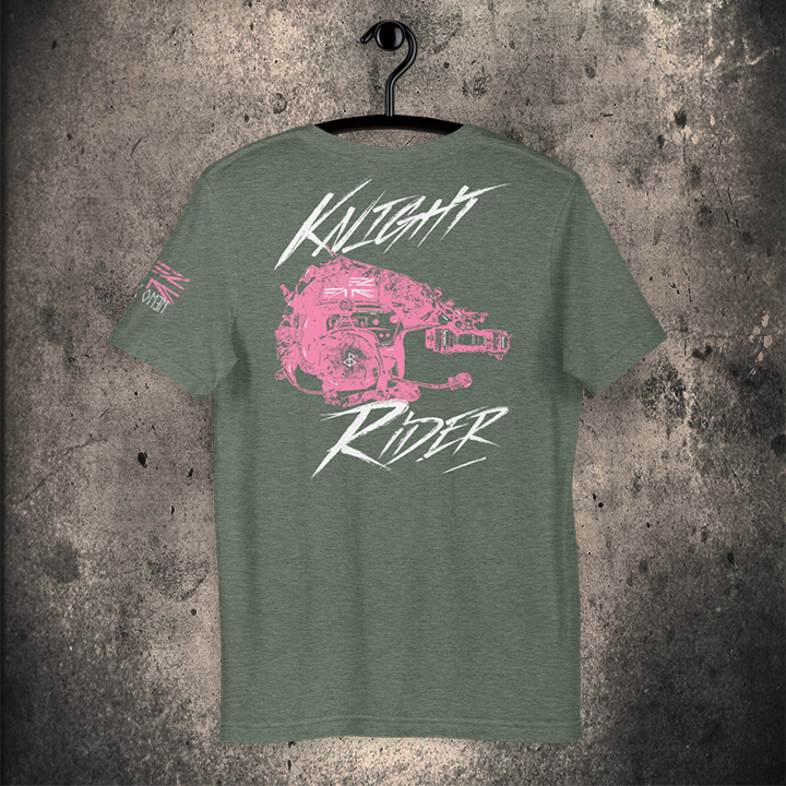 THE KNIGHT RIDER / Unisex T-Shirt / PINK 3 Colourway Options