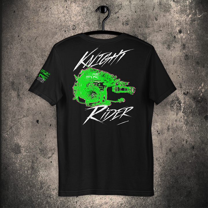 THE KNIGHT RIDER / Short-Sleeve Unisex T-Shirt / BLACK / NVG