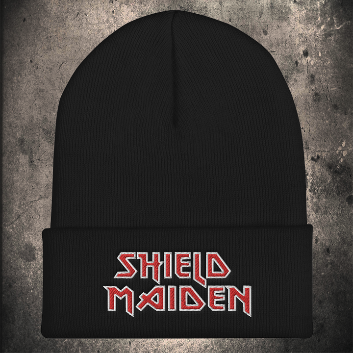 LIMITED EDITION SHIELD MAIDEN BEANIE / 2 COLOURS - BLACK-OMƎN