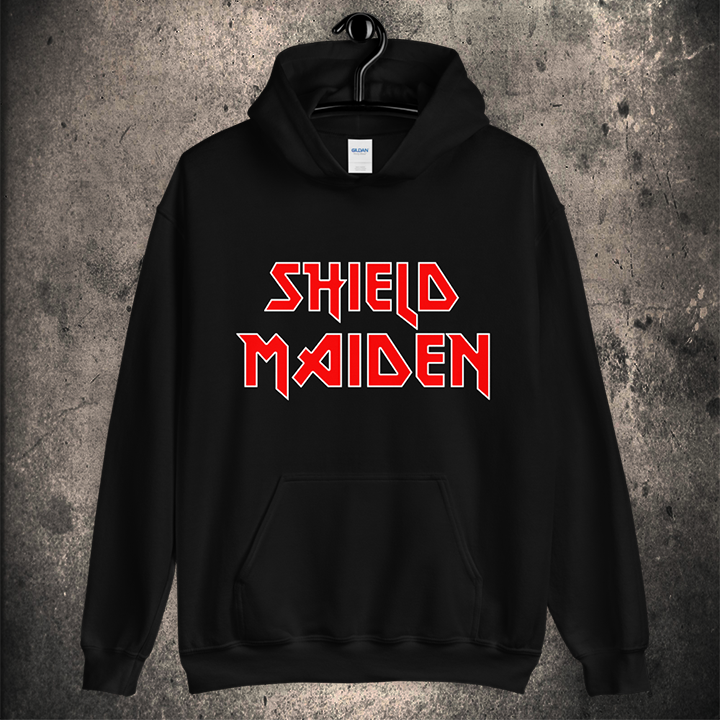 LIMITED EDITION SHIELD MAIDEN HOODIE / 2 COLOUR OPTIONS - BLACK-OMƎN