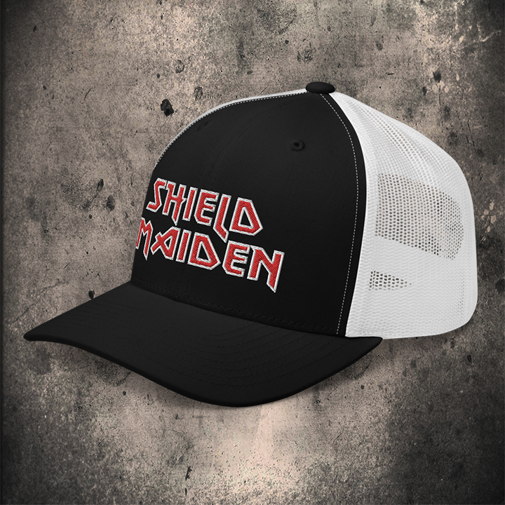 SHIELD MAIDEN / TRUCKER CAP / LIMITED EDITION / 2 COLOUR OPTIONS - BLACK-OMƎN