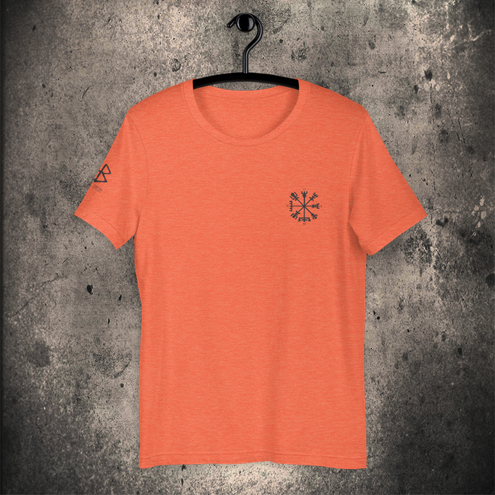 VEGVISIR Unisex T-Shirt HEATHER ORANGE