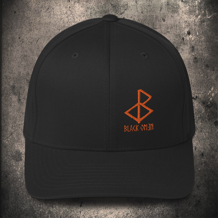 BLACK-OMƎN LOGO FLEXFIT / ORANGE