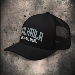VALHALLA TRUCKER CAP / 2 COLOUR OPTIONS - BLACK-OMƎN