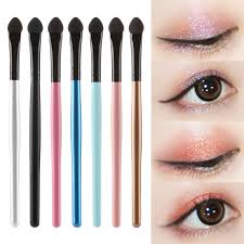 Long handle Eyeshadow Brush Portable Eyebrow Silicon Stick Applicator