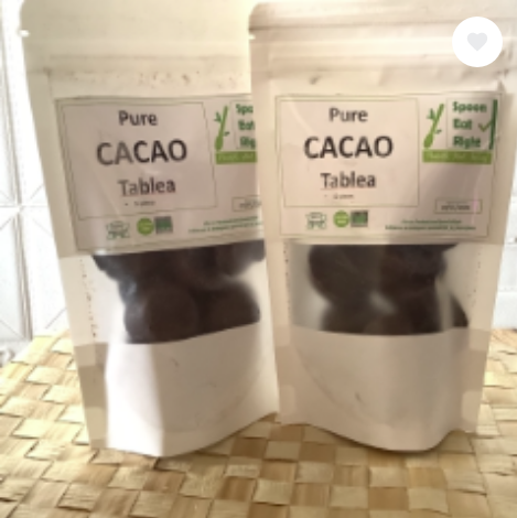 Spoon-Eat-Right PURE CACAO TABLEA 12pcs in a pack