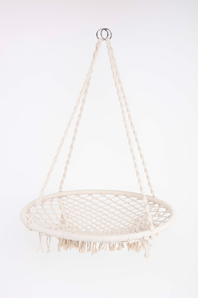 JANOURI Macramé Swing Chair