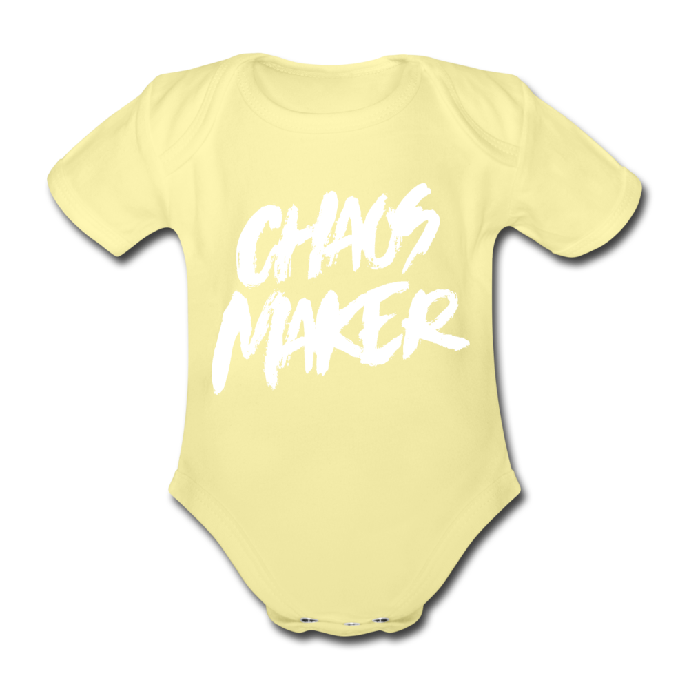 Strampler Chaos Maker - farbig - washed yellow