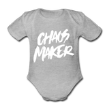 Strampler Chaos Maker - farbig - heather grey