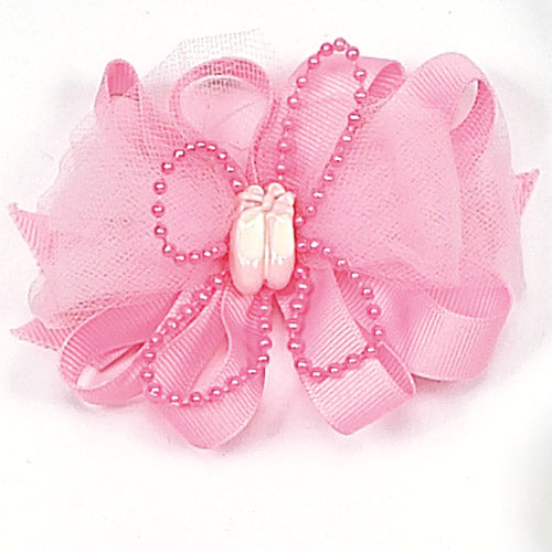 Ballet Slippers Bow Barrette 4080
