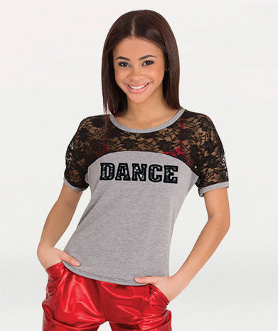 Bodywrappers Lace Back Dance Tee