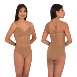 BodyWrappers Adult Nude Bodysuit With Mesh