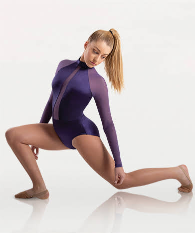 Bodywrappers 8400 Adult Satin Long Sleeve Leotard