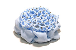 FH2 Blue Rhinestone Bun Cover with Clip