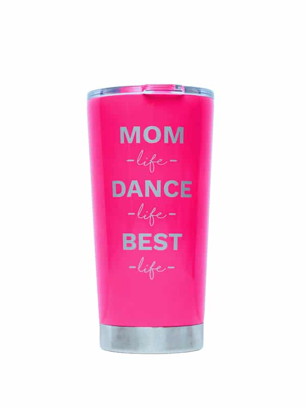 Sugar + Bruno Pink Mom Life Tumbler D9675