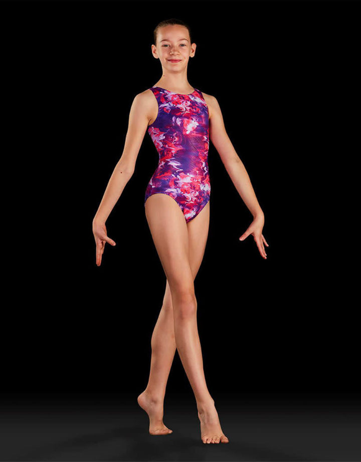 Bloch Child Rose Reflections Gym Suit GB191c