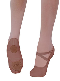 Capezio 2037W Adult Hanami Skin Tones Canvas Split Sole Ballet Shoe
