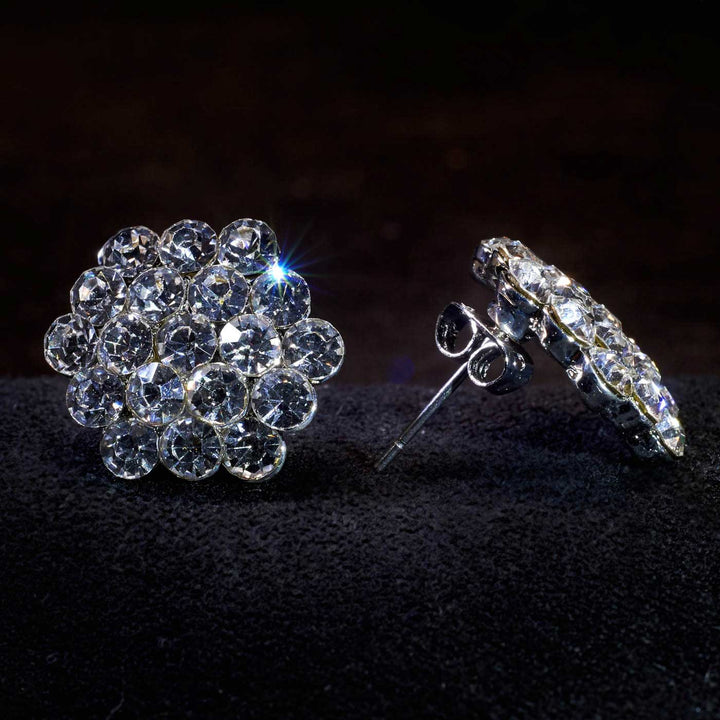 KBG Crystal Cluster Earrings SS001