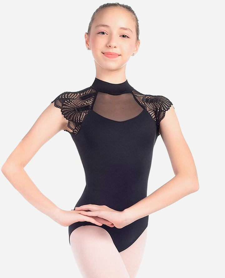So Danca CH Fan Lace Cap Sleeve Leotard L-2019