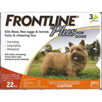 Frontline Plus for Dogs up to 22lbs
