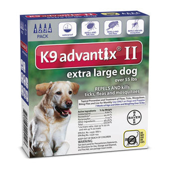 Advantix II Flea & Tick Prevention & Treatment Extra Large Dogs over 55lb