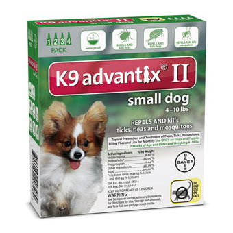 Advantix II Flea & Tick Prevention & Treatment Small Dogs Under 10lbs