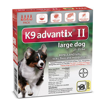Advantix II Flea & Tick Prevention & Treatment Large Dogs 21-55lbs