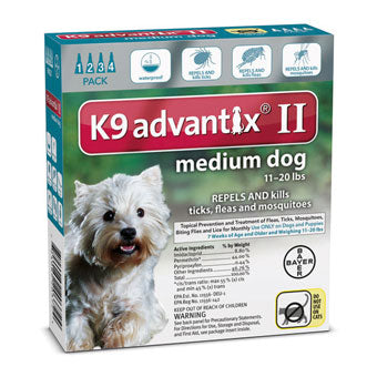 Advantix II Flea & Tick Prevention & Treatment Medium Dog 11-20lbs