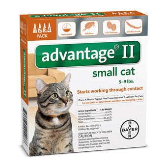 Advantage II Flea & Tick Prevention & Treatment Cats Under 9 lbs
