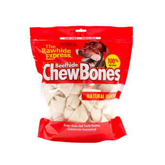 RAWHIDE EXPRESS RAWHIDE BONES FOR DOGS NATURAL 6-7 IN 5 PK