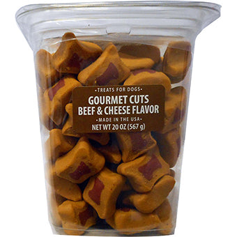 MEATY TREATS GOURMET CUTS FOR DOGS BEEF & CHEESE 20 OZ