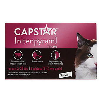 CAPSTAR FLEA TREATMENT FOR CATS 2-25 LB