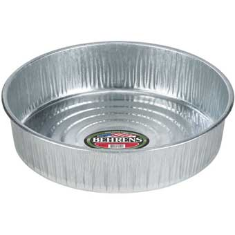 BEHRENS GALVANIZED STEEL SEAMLESS DRAIN AND UTILITY PAN 3 GAL