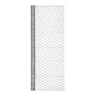 GARDEN ZONE OPB HEX NETTING GALVANIZED 2 IN X 72 IN X 50 FT