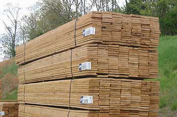 "1"" x 6"" x 16' Rough Cut Oak Fence Boards"