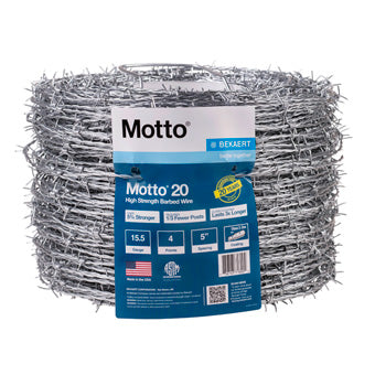 MOTTO HIGH TENSILE 4-POINT BARBED WIRE C3 15.5 GA 1320 FT