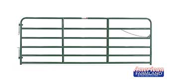 TARTER 6 BAR BULL GATE GREEN 2 IN X 12 FT