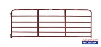 TARTER ECONOMY 6 BAR TUBE GATE RED 12 FT