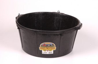 LITTLE GIANT DURAFLEX RUBBER FEEDER TUB WITH HOOKS 6.5 GAL