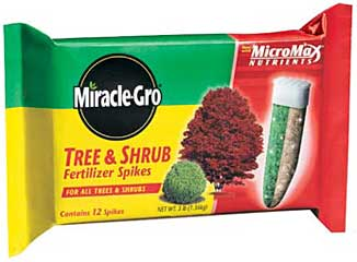 MIRACLE-GRO TREE & SHRUB FERTILIZER SPIKES PACK OF 12