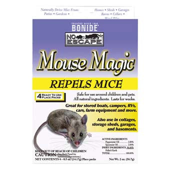 Bonide No Escape Mouse Magic Repellent 4 pack