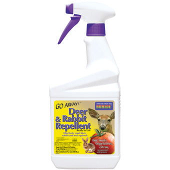 BONIDE GO AWAY DEER & RABBIT REPELLENT READY TO USE 32 OZ