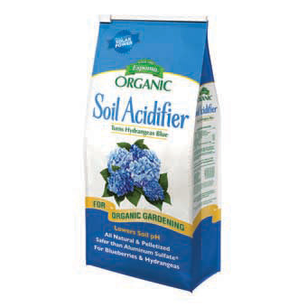 ESPOMA ORGANIC SOIL ACIDIFIER TURNS HYDRANGEAS BLUE 6 LB