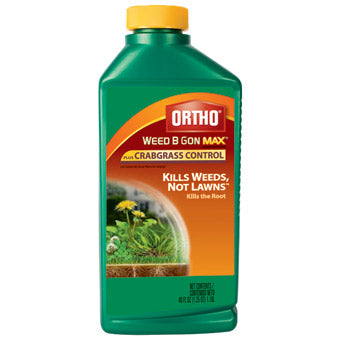 ORTHO WEED-B-GON MAX + CRABGRASS CONTROL CONCENTRATE 40 OZ