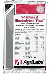 AGRILABS VITAMINS & ELECTROLYTES PLUS 4OZ