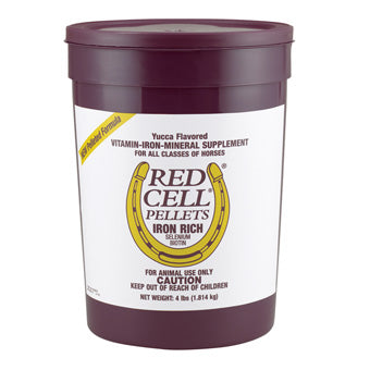 RED CELL PELLETS IRON RICH FOR HORSES PAIL 4 LB