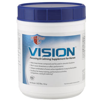 VISION FOCUSING & CALMING SUPPLEMENT FOR HORSES 1.625 LB